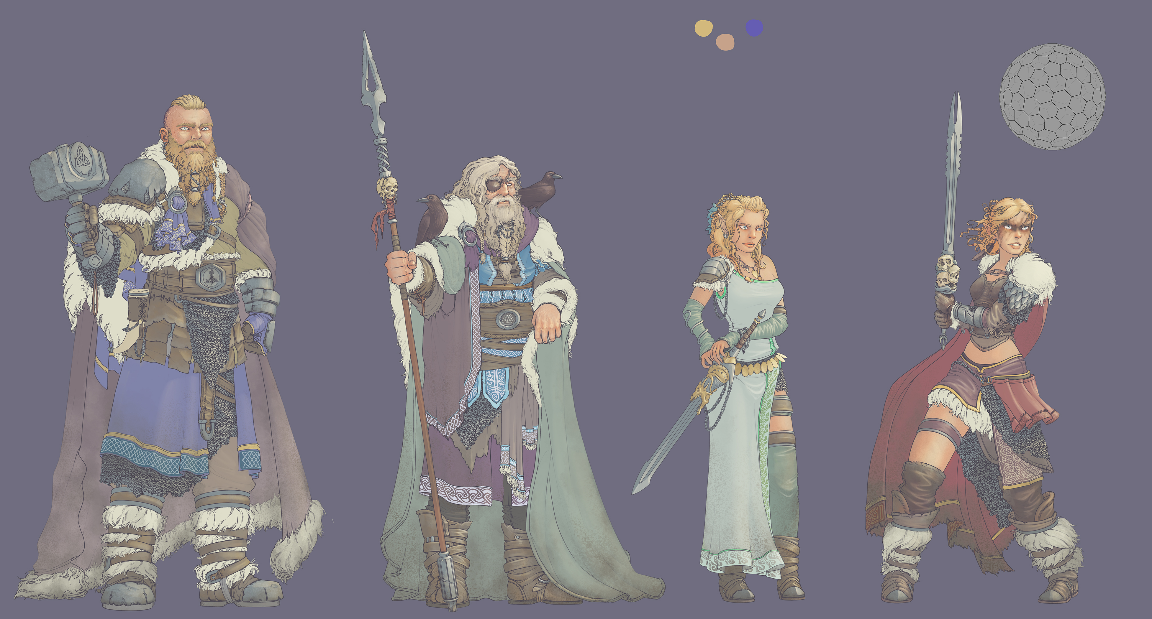 Norse-gods-COLORFLATS