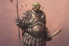 Grun, the half-orc.